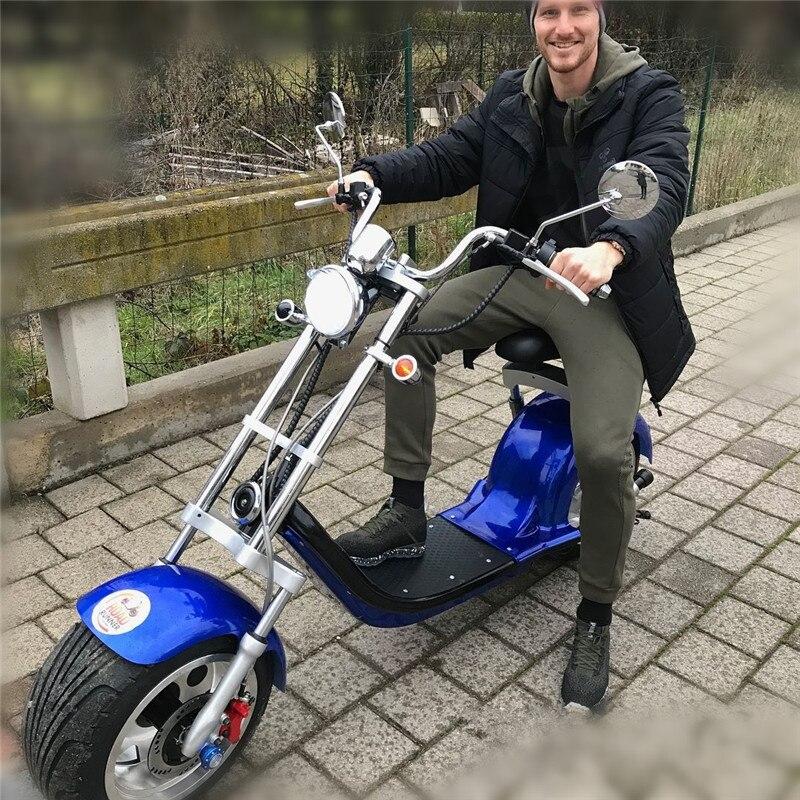 Daibot trottinette électrique Harley Citycoco Deux Roues trottinette électrique 60 V 1500 W scooter électrique Pour Adultes - 5
