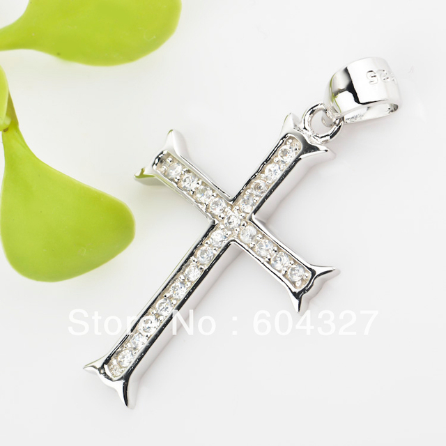 Dropshipping jewelry 925 sterling silver micro pave full cubic dropshipping jewelry 925 sterling silver micro pave full cubic zirconia cross pendant christmas jewelry floating locket aloadofball Image collections