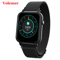 Volemer Y6Pro Smart Watch Blood Pressure Oxygen Monitor Multi Sports Modes Fitness Tracker For Samsung Huawei Pk Honor Band 3