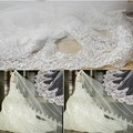 Royal High Quality 3 Meter Long Bridal Veil Lace Elegant Wedding Vies White Or Beige Color Wedding Accessories Velos De Novia