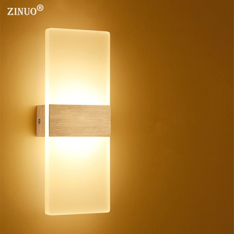 ZINUO 6W 12W Modern Led Wall Lamps Acrylic Bed Room Wall ...