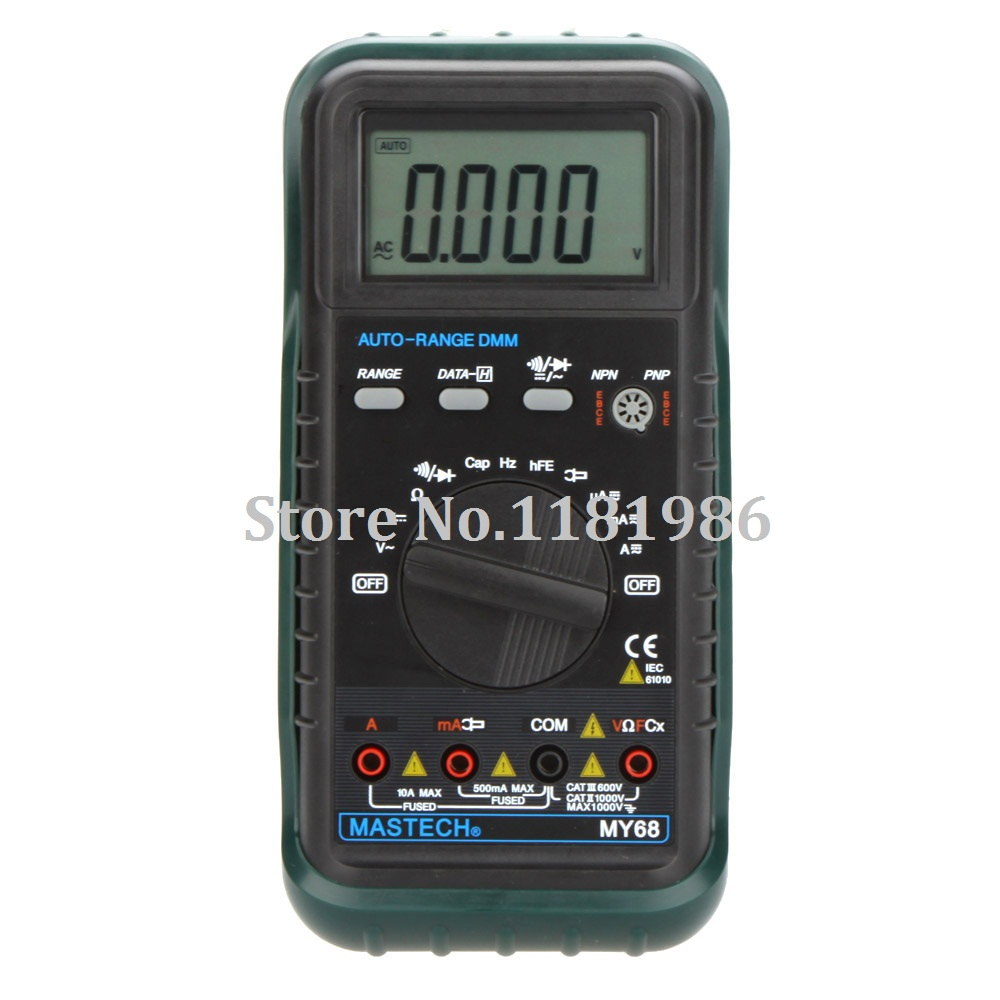 MASTECH MY68 Handheld Auto Range Digital Multimeter DMM w/Capacitance Frequency & hFE Test Meter Testers  цены