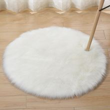 5 Sizes New Soft Faux Fur Wool Living Room Sofa Carpet Plush Carpets Bedroom Cover Mattress Xmas Door Window Round Rugs