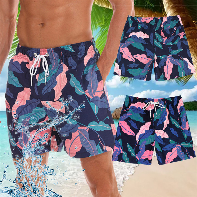 Surfing Beach   Shorts   Men Fast drying Men Color   Board     Shorts   Swimming Beach   Shorts   Flower Surfboard   Shorts   Swimming Suits #2p15