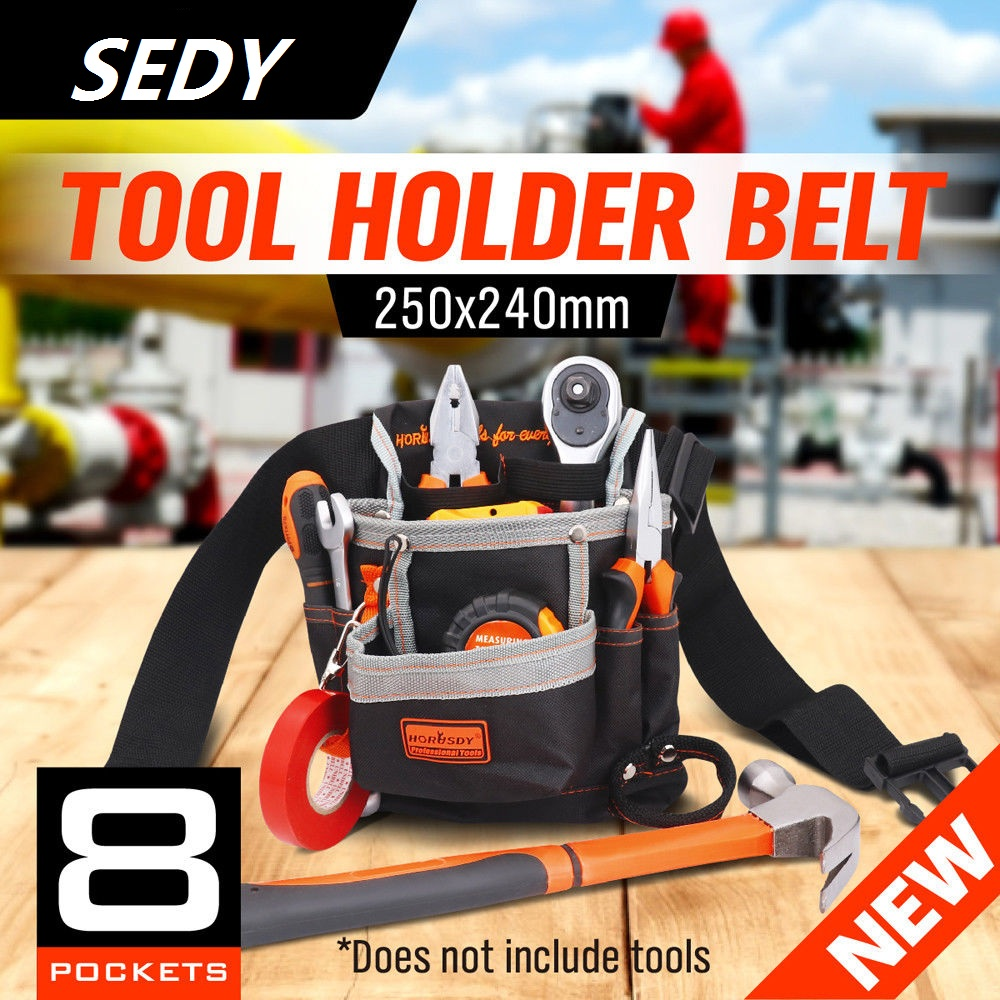 SEDY Bolsas para herramientas de electricista de alta calidad 8 bolsillos Oxford Kit de herramientas Bolsa Cinturón Cinturón Bolsillo para herramientas Bolsa para cinturón Bolsa de herramientas para cinturón de trabajo