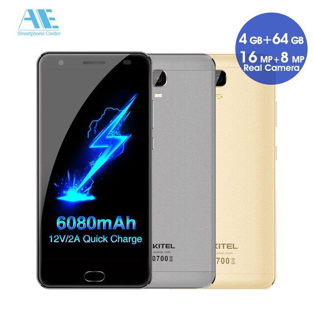"""Oukitel K6000 плюс телефона mtk6750t Octa core 6080 мАч android7.0 смартфон 5.5 """"FHD Экран 4 г Оперативная память 64 г встроенная память 4 г LTE мобильный телефон"""