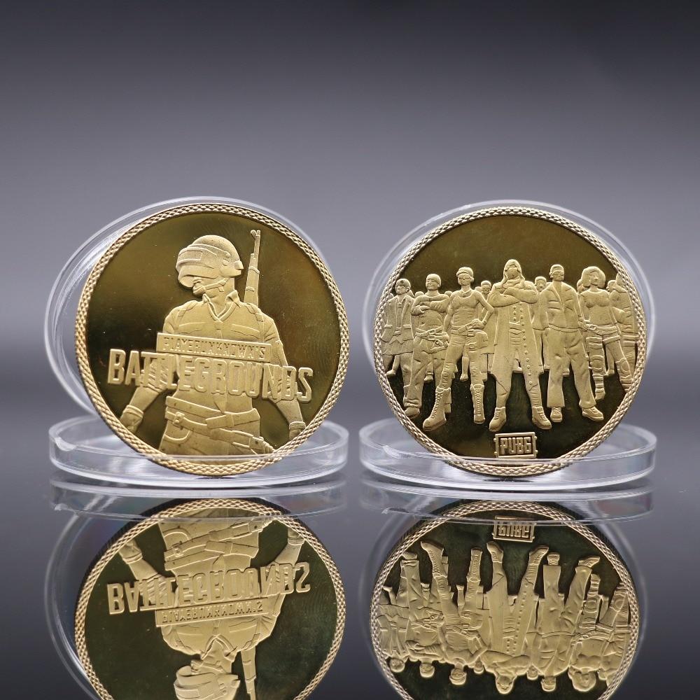 Hot New Game PUBG Coin Cosplay Badge Metal Golden Commemorative Coin Game PUBG Small Gift Winner Winner Chicken Dinner