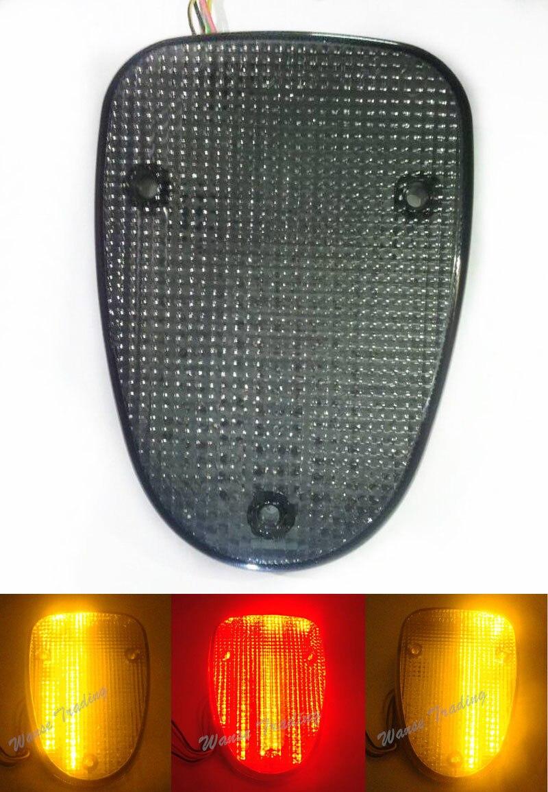 Tail Brake Turn Signals Integrated Light Smoke For 1998 2010 YAMAHA V Star VStar XVS 650