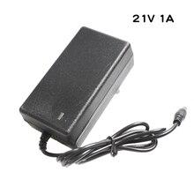 21V 1A ładowarka akumulatorów litowych dla 5 serii 21V bateria litowa akumulator polimerowy ładowarka ze światłem LED pokazuje