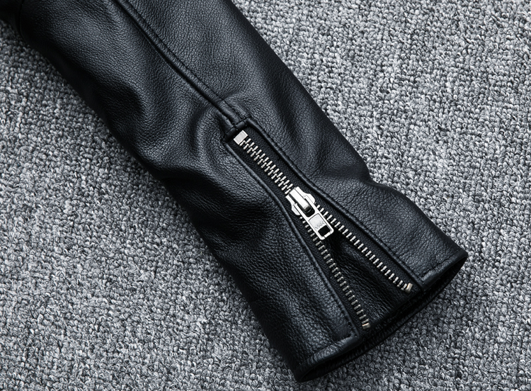 HTB176dVKeuSBuNjy1Xcq6AYjFXaK MAPLESTEED Classical Motocycle Jackets Men Leather Jacket 100% Natural Calf Skin Thick Moto Jacket Man Biker Coat Winter M192
