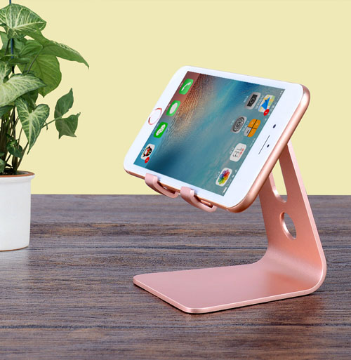 Fashion Style Aluminium Alloy Metal Desk Tablet Stands Holders For Galaxy S7 S6 Edge S10 S9 S8 Plus J3 J2 J5 J7 A3 A5 A7(2017) J4+ J6+ Xcover4 Limpid In Sight