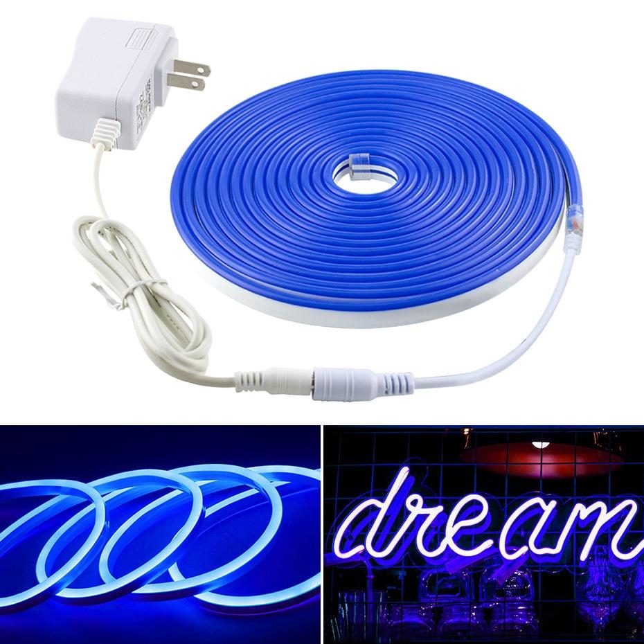 Flexible LED Neon Tape Lights LED Strip Light 12V Waterproof 2835SMD Ribbon Led 1M 2M 3M 4M 5M Warm White White Red Green Blue