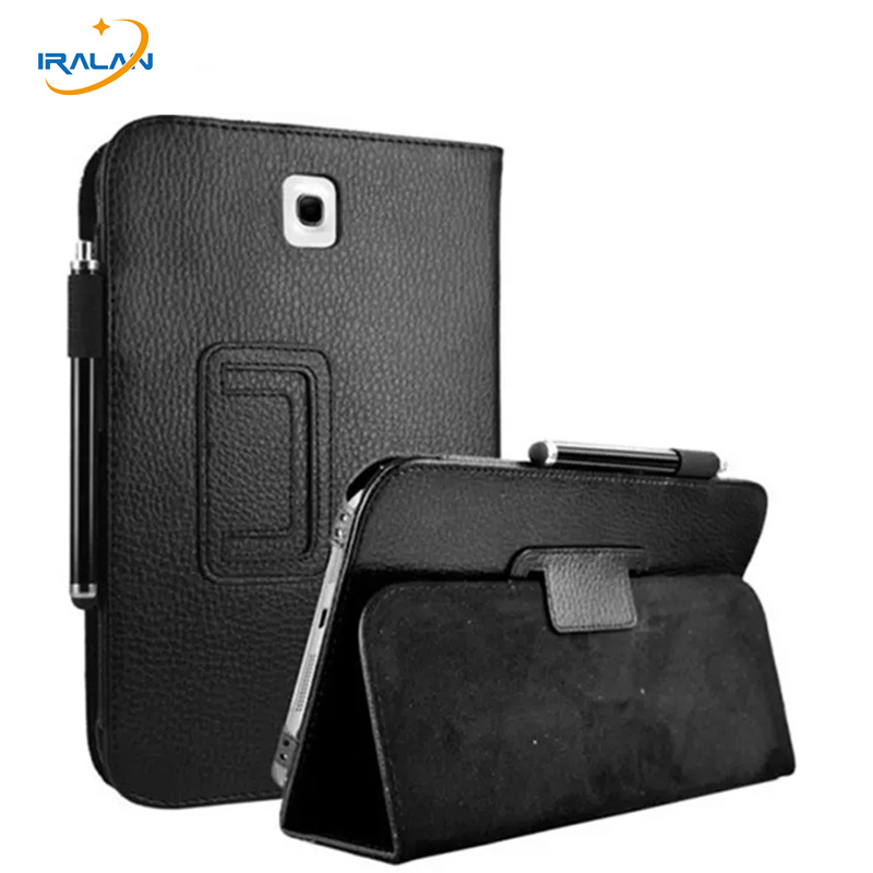 2017 New Fashion Lychee PU Leather Case for Samsung Galaxy Note 8.0 N5100 N5110 N5120 Flip Folio Stand Tablet Cover+stylus pen stylish flip open pu leather case w holder card slot for samsung note 3 black