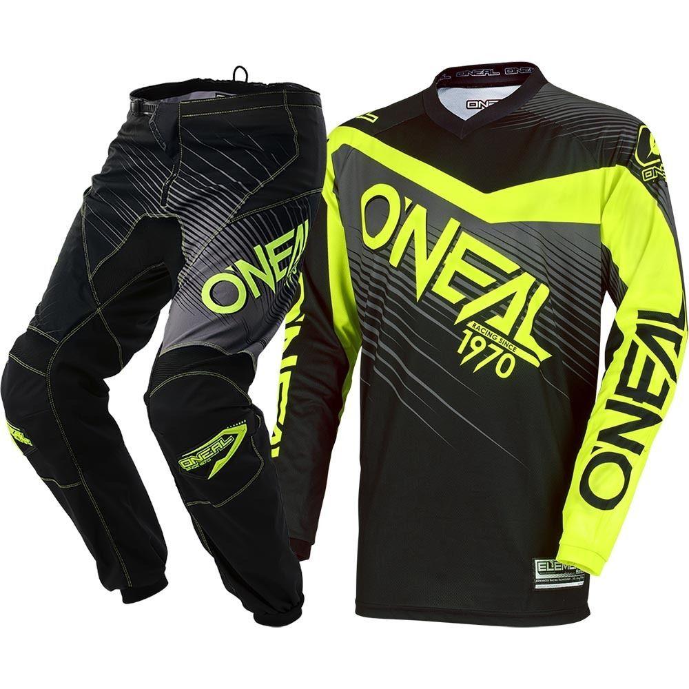 2018 Jaune Noir Jersey et Pantalon MX Motocross Dirt Bike ATV Vitesse de Descente Offroad Hommes Racing Gear Set