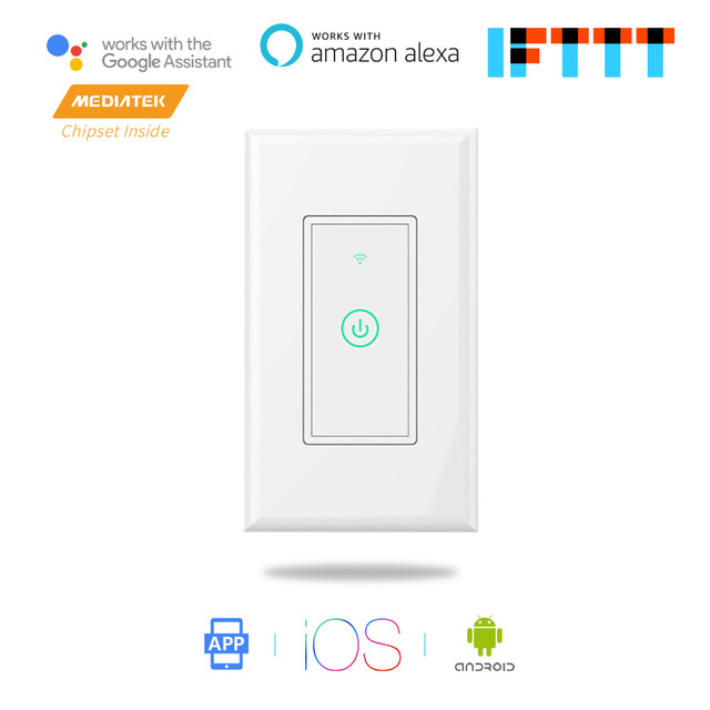 US $18 99 |Smart WiFi Wall Switch, Amazon Alexa & Google Assistant & IFTTT  Supported, App Remote Control Meross MSS510-in Smart Power Socket Plug from