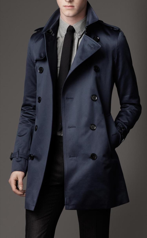 Printemps et automne style long coupe-vent d'affaires décontractée unique rangée bouton manteau fabricants en gros prix