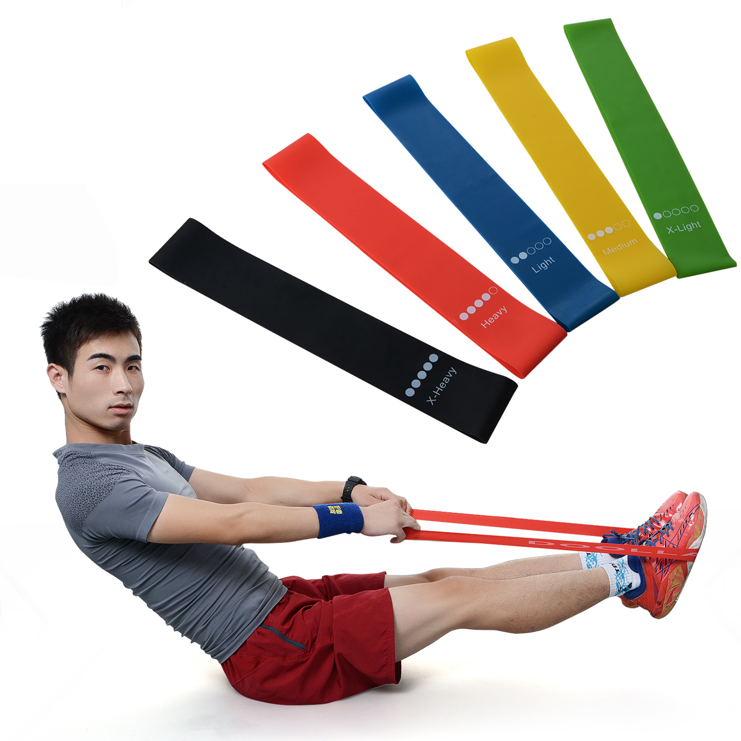 5Pcs/Set 0.35-1.1mm Yoga Resistance Bands Arm Thigh Strength Training Fitness Belt Exerciser Force Equipment Strap Wholesale 5pcs set 0 35 1 1mm yoga resistance bands arm thigh strength training fitness belt exerciser force equipment strap wholesale
