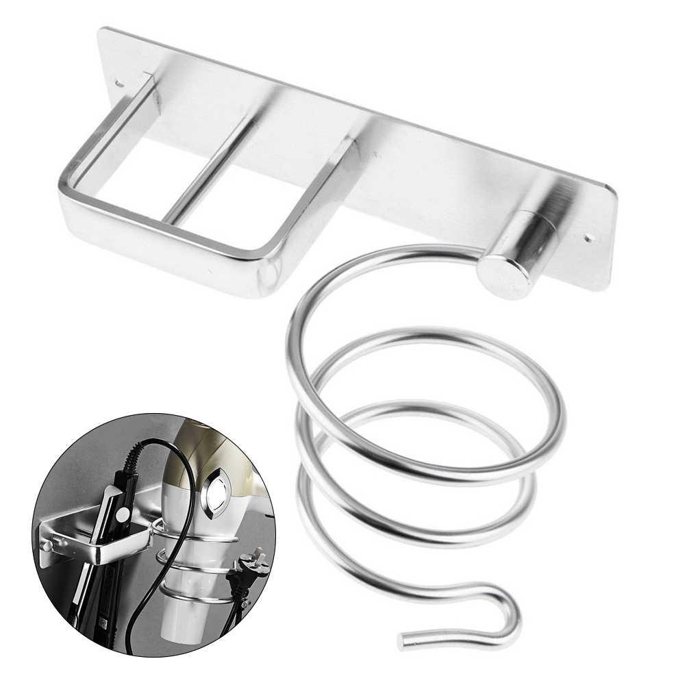 Soporte para secador de pelo de aluminio montado en la pared soporte para secador de pelo organizador de plancha soporte para pared