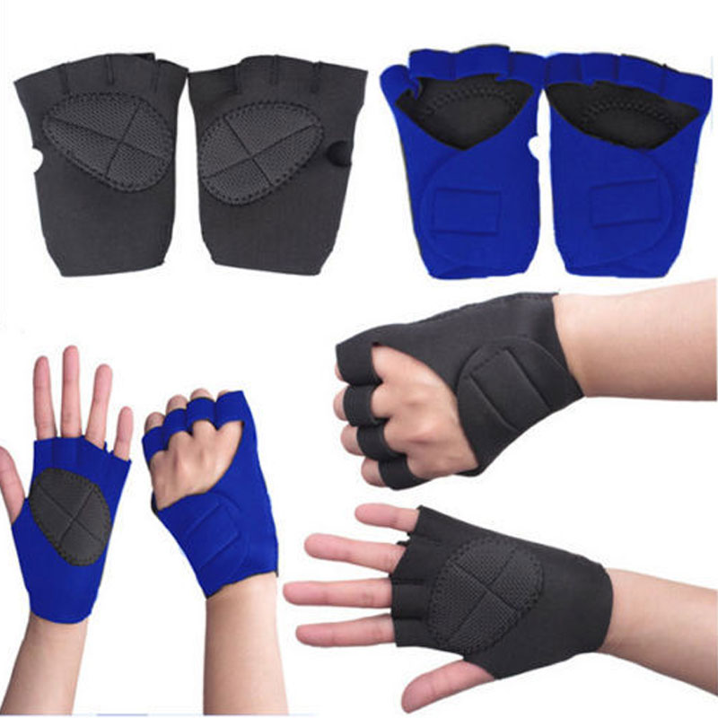 Neoprene Weight Lift Training Workout Gym Palm Exercise: Men Women's Sport Gym Weight Lifting Gloves Body Building