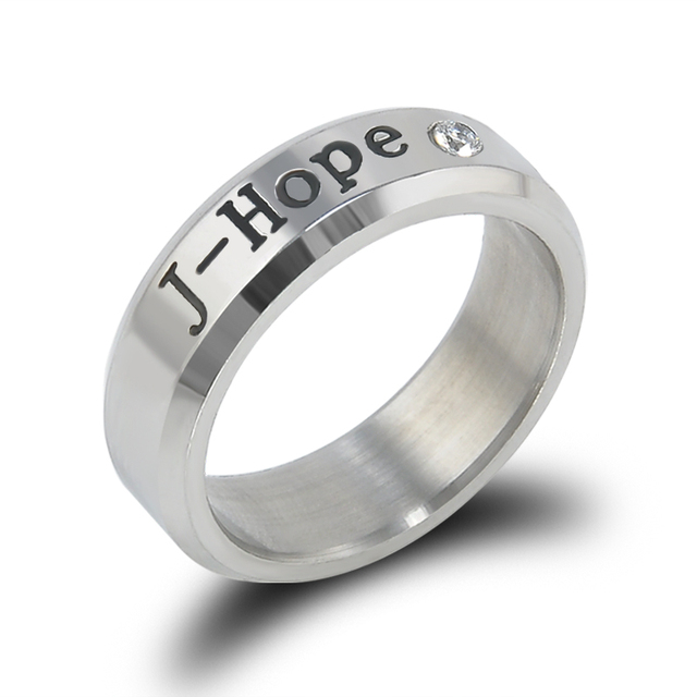Hot BANGTAN BOYS BTS Ring Men Women Stainless Steel  KPOP JUNGKOOK JIMIN JIN V SUGA J-HOPE Name Rings Gifts Jewelry for fans