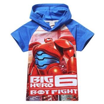 2017 New Brand/ hoodie Big hero 6 T-shirts For Boys Children Baymax T shirt Tops summer Kids Baby T shirts Brand Boys clothing