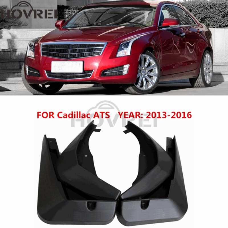 4pcs Set car Front Rear Mud Flaps Splash Guard Fender Mudguards FOR Cadillac ATS 2013 2014