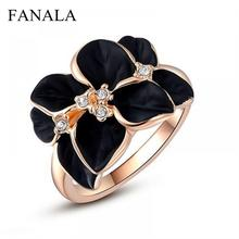 Drip Cute C291 Finger Gardenia Vintage Wedding Women Jewelry Anillo Flower  Tail Gift Knuckles Crystal Fashion