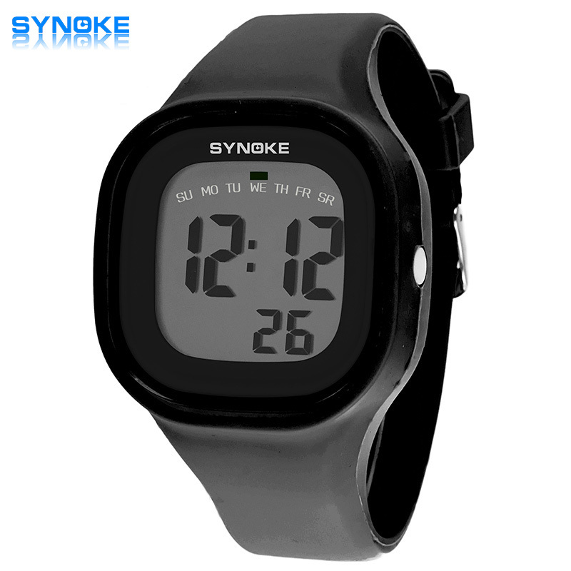 7 colors SYNOKE 2016 Hot Silicone Jelly Children Watches New Brand Waterproof Kids Watch Fashion Sports LED Digital-watch gift