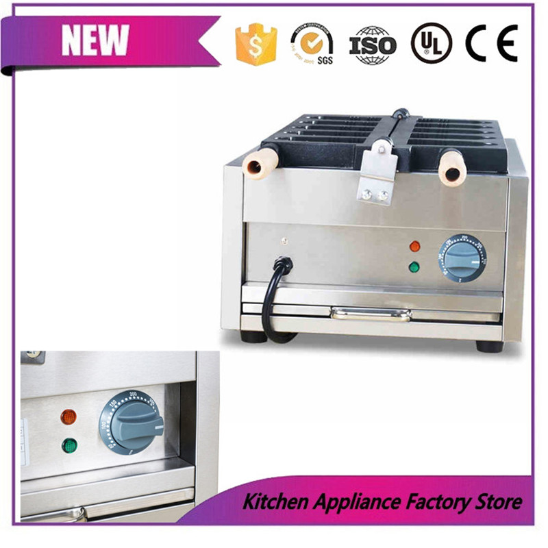 Free shipping by express 110V 220V ice cream Hanging bell machine Hanging bell waffle maker machine - 4