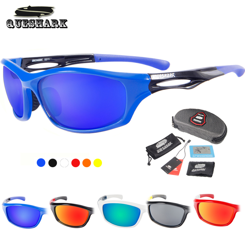 Queshark UV400 Polarized Sport Glasses Cycling Bike Sunglasses Bicycle Goggles Outdoor Riding Ski Hiking Fishing Climb Eyewear queshark polarized cycling sunglasses mountain road bike glasses riding bicycle goggles hiking sports eyewear with myopia frame