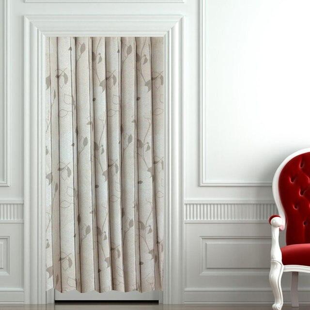 Morden Fresh Elegant Fabric Blinds Curtain Partition Long Door Curtain  Customize Home Decor Japanese Door Shutter Curtains