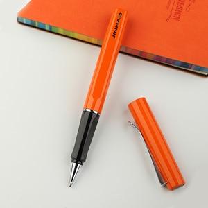 Image 5 - Jinhao rollerball pen luxury 599 six color business metal ballpoint pen tip flat pen clip 0.7mm black refill Can customize LOGO