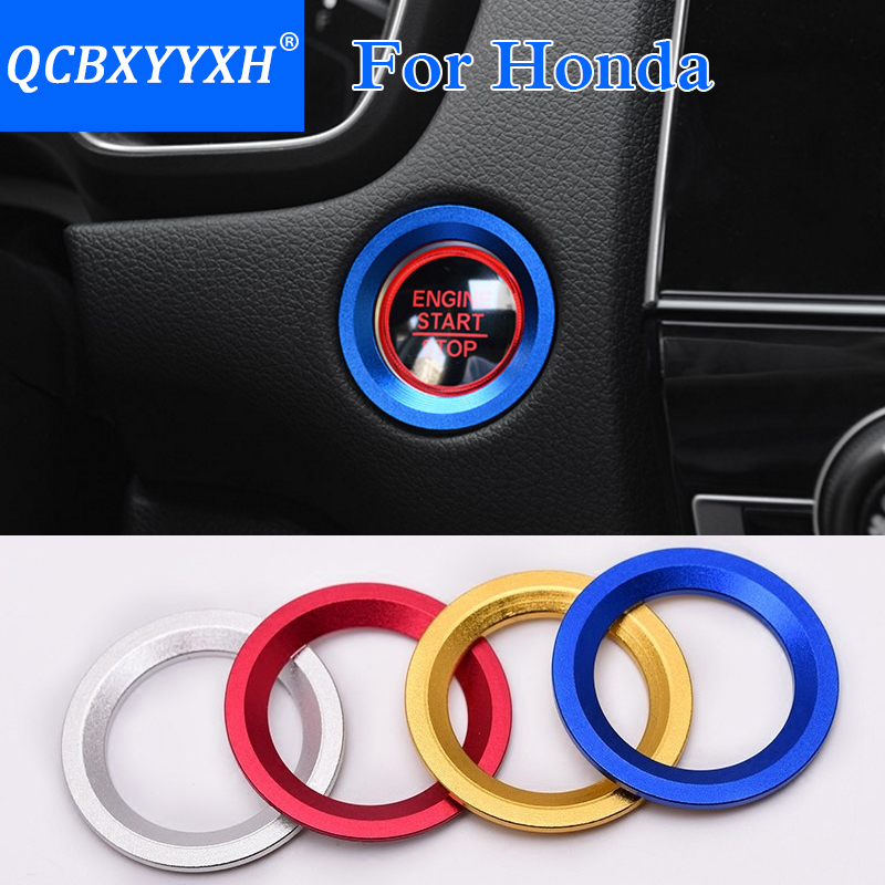 iTimo Luminous Alloy Car Ignition Switch Cover for Honda FIT//City//CIVIC//Ciimo//Accord CRV//ODYSSEY