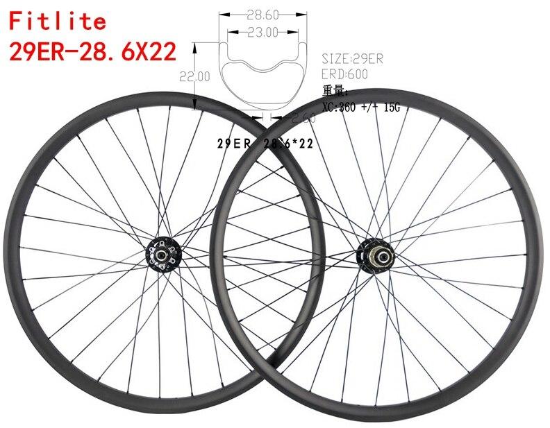 Продажа Асимметричная MTB углерода колесная XC колеса Hookless смещение обода Clincher Бескамерная Совместимость 29ER/27.5ER (650b)