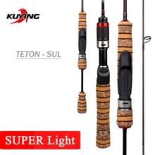 "KUYING Teton 1.56m 52 ""ליהוק 1.86m 62"" ספינינג SUL סופר Ultralight רך פחמן חכת דיג פיתוי קיין מוט מקל בינוני"
