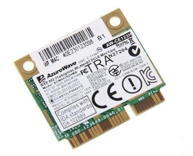 SSEA BCM94352 AzureWave Broadcom BCM94352HMB 802.11/ac Bluetooth 4.0 Metade Mini PCI-E Card 867 Mbps