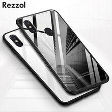 Rezzol для huawei Nova 3i Nova 3 защитное стекло задняя крышка телефона Футляр с силиконовой рамка для huawei P Smart плюс Капа