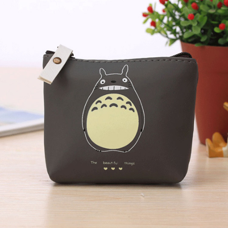 XYDYY Fashion Totoro PU leather Coin Purses Women Zipper Waterproof Change Coin Purses Square Small Purses Pouch Wallet Handbag 2017 new coin purses wallet ladies 3d printing cats dogs animal big face change fashion cute small zipper bag for women pouch
