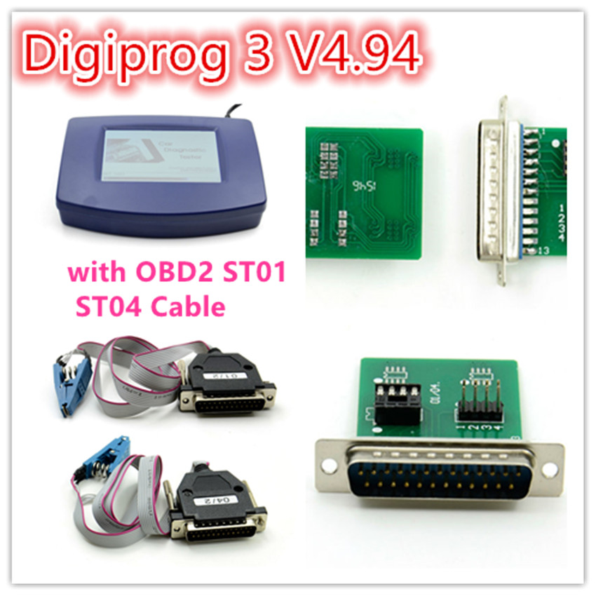Free shipping digiprog iii with OBD good price&high quality Main unit for Digiprog III with OBD2 cable hot selling free ship long silver white cosplay straight wig with two clip on ponytails