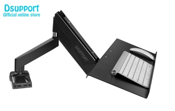 Keyboard Tray with VESA Mounting Hole 100x100mm for DIY Stand Working Keyboard Holder fixed with Monitor Holder Arm