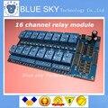 Frete Grátis 1 pcs 12 V 16 Canal Módulo de Relé Interface Board Para Arduino PIC ARM DSP PLC Com Optoacoplador proteção