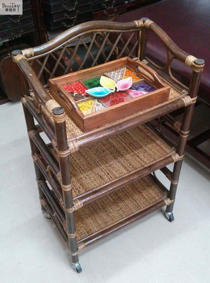 The Cane Makes Up By Hand Trolley. Household Cart. Beauty Salon Cart. Beauty Tool