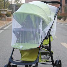 Mesh on The Stroller Infants Baby Stroller Accessories Mosquito Net Protection Newborn Kids Pushchair Fly Midge Insect Bug Cover(China)