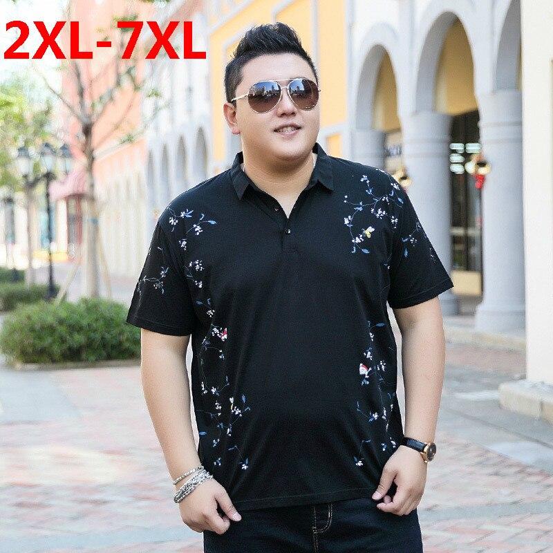 2018 New Plus Size 9xl 8xl 7xl 6xl 5xl Fashion Mens Palace Summer Brand Cotton Lapel Short Sleeves Polo Ralphmen Pol Shirt Polo