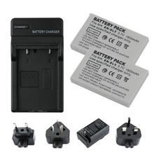 2Pcs 3.7V 1600mAh EN-EL5 EN EL5 ENEL5 Battery + Charger for NIKON Coolpix P530 P520 P510 P100 P500 P5100 P5000 P6000