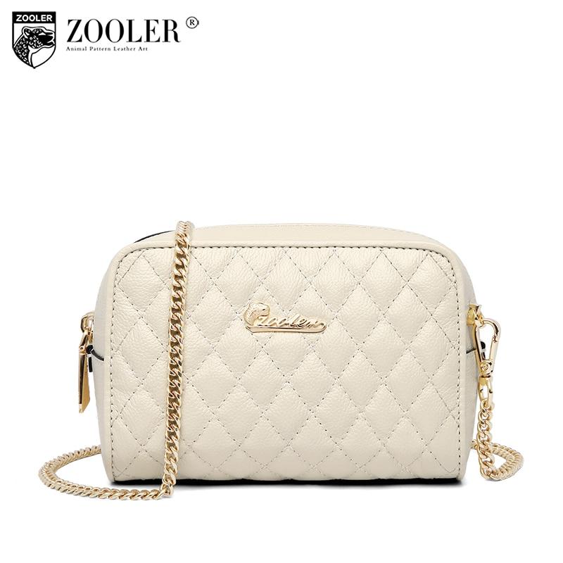 где купить hot 2018 Classic woman bag ZOOLER brand genuine leather bag lady cross body designed high quality chain shoulder bag #m503 по лучшей цене