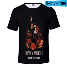 Shawn Mendes Tshirt Short Sleeve  Canada Popular Singer Causal Shirts Women Men Shawn Mendes Clothing Plus Size Harajuku Kpop shawn mendes tokyo