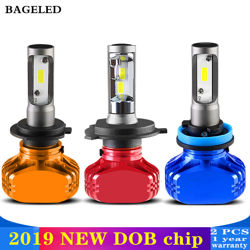 BAGELED 2Pcs DOB H11 Lamp H4 Led H7 H1 H3 Car Headlight Bulbs For Auto 9005 9006 H27 881 HB3 HB4 Led Automotive 12V 50W 8000LMBAGELED 2Pcs DOB H11 Lamp H4 Led H7 H1 H3 Car Headlight Bulbs For Auto 9005 9006 H27 881 HB3 HB4 Led Automotive 12V 50W 8000LM