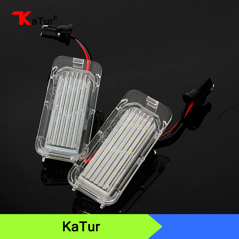 Super Bright White 18SMD LED Number License Plate Light Bulbs For Ford Fiesta Focus Kuga C-MAX For Mondeo 151 1pair license number plate light 18led lamps replace for ford mondeo focus 5d canbus d2tb