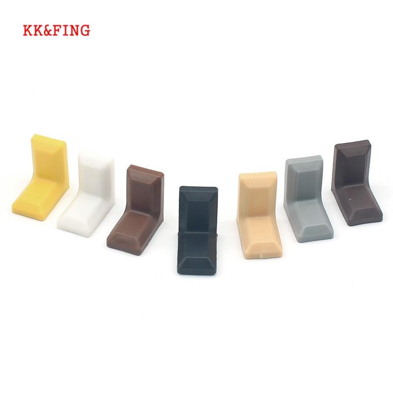 KK&FING10PCS Wardrobe Cupboard Connection Corner Code With ABS Decorative Cover Iron Corner Code Adjustable Plastic Hanging Code